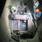 Réouverture du puits Mathis, 21 mai 2018.