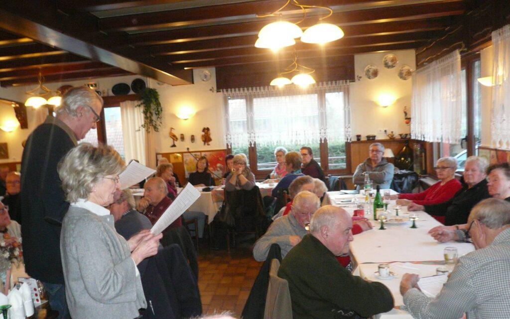 Table de patois au restaurant Diette à Fouchy, janvier 2019.